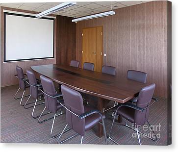 Empty Conference Room Canvas Print by Jaak Nilson