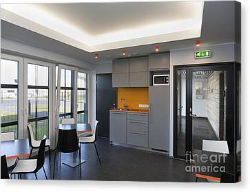 Empty Office Lunchroom Canvas Print by Jaak Nilson