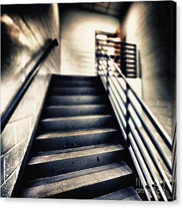 Empty Stairwell Canvas Print by Skip Nall