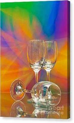 Empty Wine Glass Canvas Print by Anuwat Ratsamerat