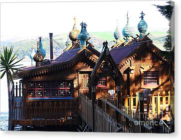 Russian-style Canvas Print - Enchanted House At Inverness In Point Reyes California . 7d9827 by Wingsdomain Art and Photography