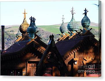 Russian-style Canvas Print - Enchanted House At Inverness In Point Reyes California . 7d9828 by Wingsdomain Art and Photography