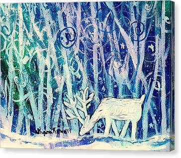 Enchanted Winter Forest Canvas Print by Shana Rowe Jackson