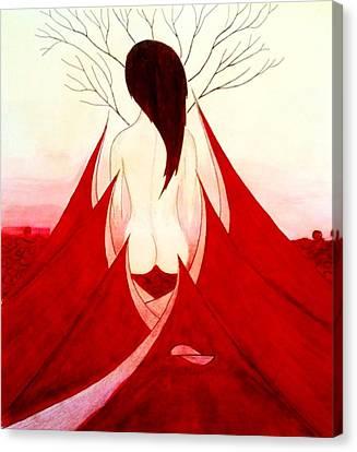 Enchantress Red Canvas Print by Fariz Kovalchuk