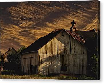 Barn Storm Canvas Print - End Of Day by Dennis Wright