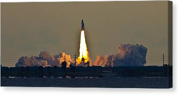 Endeavor Blast Off Canvas Print by Dorothy Cunningham