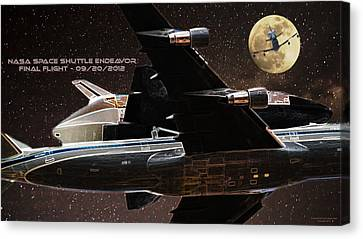 Gabby Giffords Canvas Print - Endeavor - Final Flight by Andreas Hohl