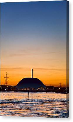 Energy Recovery Facility, Southampton, Uk Canvas Print by Paul Rapson