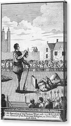 England: Beheading, 1554 Canvas Print by Granger