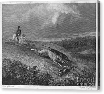 England: Coursing, 1833 Canvas Print by Granger