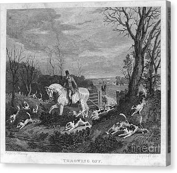 England: Fox Hunt, 1833 Canvas Print by Granger