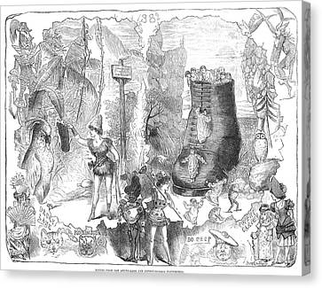 England: Pantomime, 1881 Canvas Print by Granger