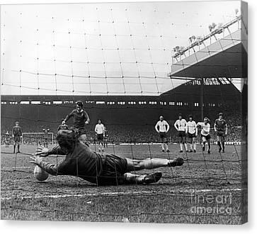 Goalkeeper Canvas Print - England: Soccer Game, 1973 by Granger
