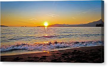 English Bay - Beach Sunset Canvas Print by Eva Kondzialkiewicz