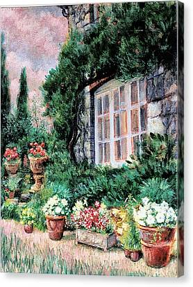 English Cottage And Pathway Garden 2 Canvas Print by    Armand  Storace