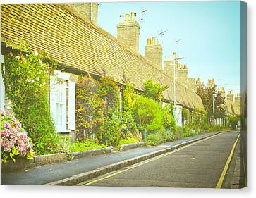 English Cottages Canvas Print by Tom Gowanlock