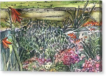 English Garden Canvas Print by Mindy Newman