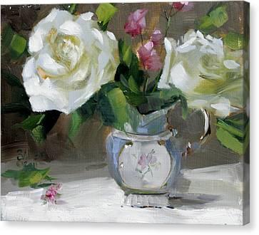 English Tea Rose Canvas Print by Chris  Saper