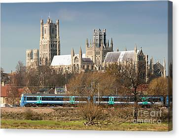Canvas Print featuring the photograph English Train by Andrew  Michael