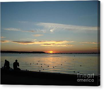 Canvas Print featuring the photograph Enjoy by Katy Mei