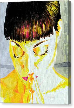 Enlightened Woman Canvas Print by Jose Miguel Barrionuevo
