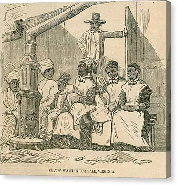 Enslaved African American Women Canvas Print