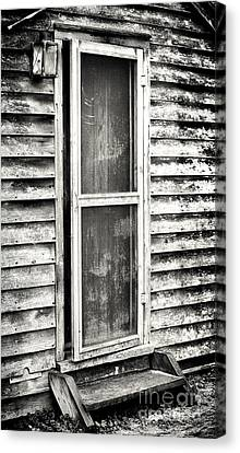 Enter Through The Back Door Canvas Print