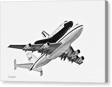 Enterprise Shuttle Ny Flyover Canvas Print by Regina Geoghan