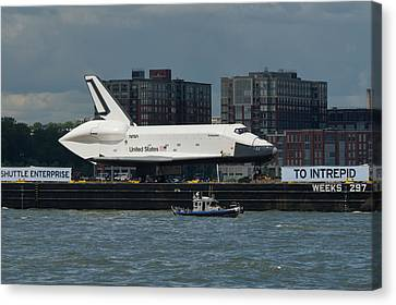 Enterprise To Intrepid Canvas Print by Gary Eason