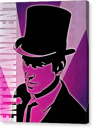 Entertainment Poster With Man In Top Hat Canvas Print by Photos.com