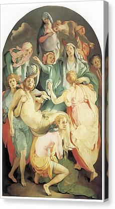 Entombment Canvas Print by Jacopo Da Pontormo