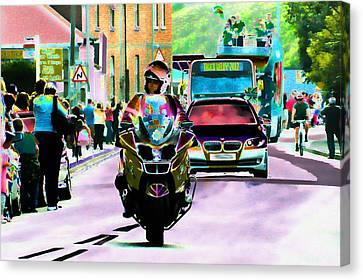 Entourage Canvas Print by Sharon Lisa Clarke