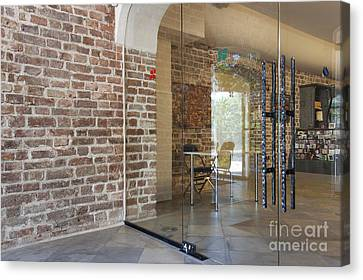 Entrance To A Traditional Music Center Canvas Print by Jaak Nilson