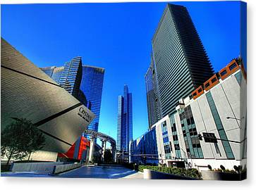 Entrance To City Center Canvas Print by Linda Edgecomb