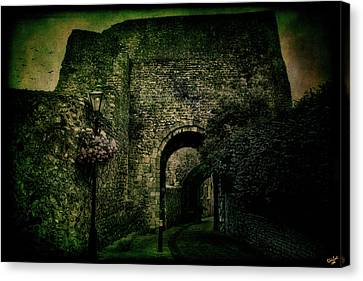 Entrance To Lewes Castle Canvas Print by Chris Lord