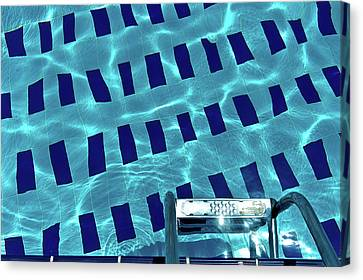 Water Swimming Pool Canvas Print - Entrance To Pool by Daniel Kulinski