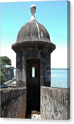 Entrance To Sentry Tower Castillo San Felipe Del Morro Fortress San Juan Puerto Rico Poster Edges Canvas Print