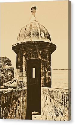 Entrance To Sentry Tower Castillo San Felipe Del Morro Fortress San Juan Puerto Rico Rustic Canvas Print