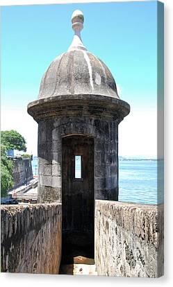 Entrance To Sentry Tower Castillo San Felipe Del Morro Fortress San Juan Puerto Rico Canvas Print by Shawn O'Brien