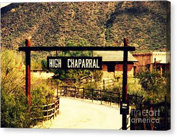 Entrance To The High Chaparral Ranch Canvas Print by Susanne Van Hulst
