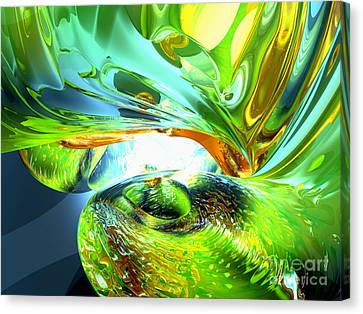 Swirling Desires Canvas Print - Envious Thoughts Abstract by Alexander Butler