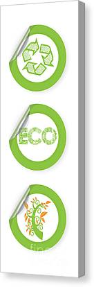 Environmental Sticker Design Canvas Print by HD Connelly