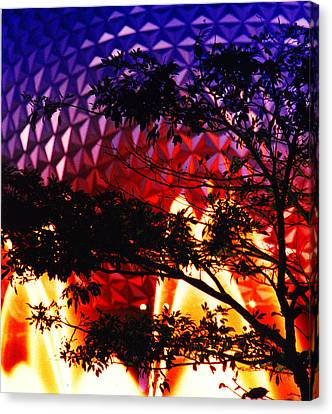 Canvas Print featuring the photograph Epcot Dream by Mike Flynn
