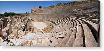 Ephesus Theatre Canvas Print by Michael Oakes