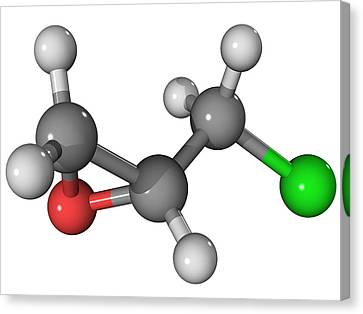 Epichlorohydrin Molecule Canvas Print by Laguna Design