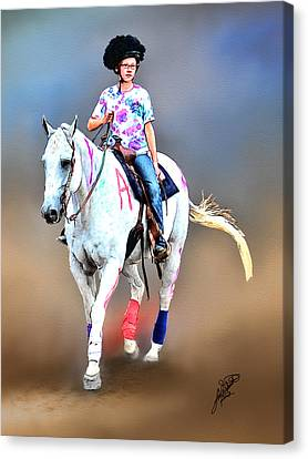Equestrian Competition II Canvas Print by Tom Schmidt