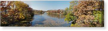 Canvas Print featuring the photograph Erie Canal Panorama by William Norton
