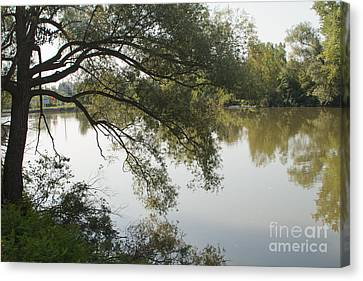 Canvas Print featuring the photograph Erie Canal Turning Basin by William Norton