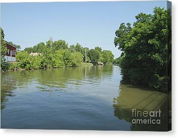 Canvas Print featuring the photograph Erie Canal by William Norton