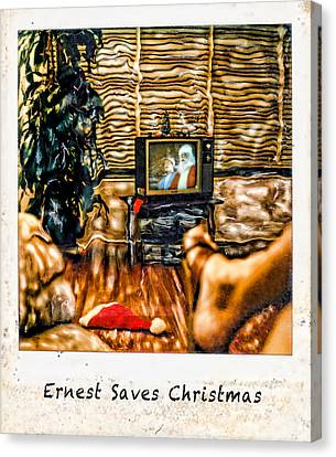 Ernest Saves Christmas Canvas Print by Lou  Novick